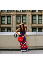 banana republic hat - Kardashian Kollection dress - Shuvi Luna bag