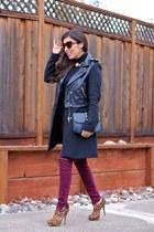 Miu Miu boots - Zara coat - Topshop jeans - Forever 21 bag - Zara necklace