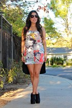 Forever 21 boots - Forever 21 dress - Kardashian kollection by Sears sunglasses