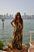 Topshop dress - golden H&M bracelet - golden Jovan Jane accessories