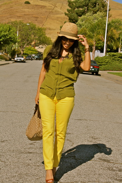 yellow jcpenney jeans olive green forever 21 blouses tawny miu miu