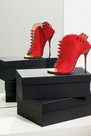 red Giuseppe Zanotti shoes