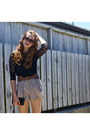 Black-black-lace-supre-top-tan-chic-a-booti-shorts-brown-cotton-on-belt