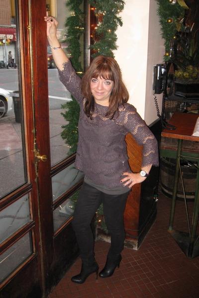tory burch boots - pixie pants Jcrew pants - grey lace Zara glasses
