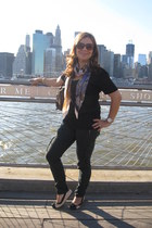 Michael Kors watch - silky scarf H&M scarf - damier cavas Louis Vuitton bag