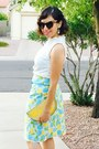 Light-yellow-ali-express-purse-karen-walker-sunglasses