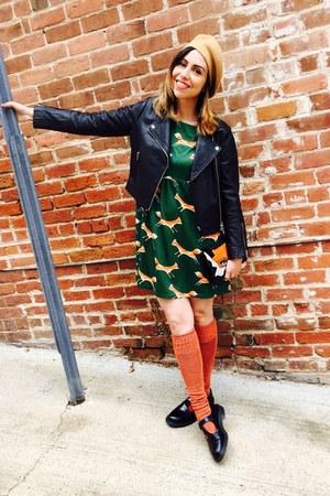 black Topshop jacket - black mary janes Dr Martens shoes