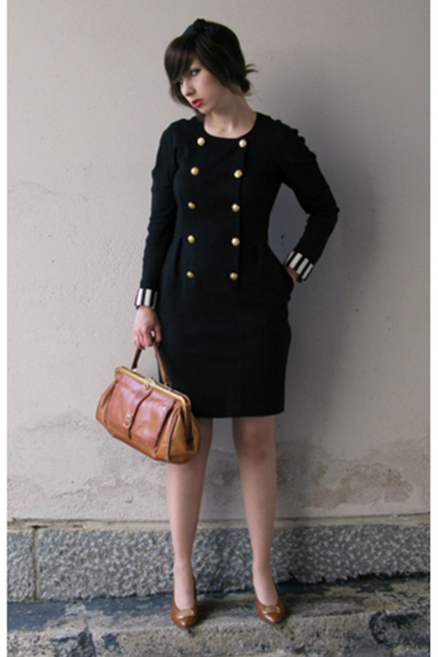 adrienne vittadini dress - vintage purse - second hand shoes - GINA TRICOT acces