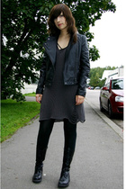 black JSFN jacket - black Kenkärepo shoes - gray Pour dress
