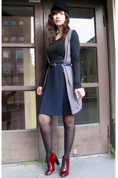 second hand skirt - Ellos vest - H&M hat - Global Essentials shoes