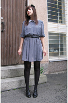 vintage dress - Skopunkten shoes - GINA TRICOT accessories - second hand belt