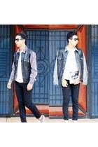 white sun island shirt - black zara pants