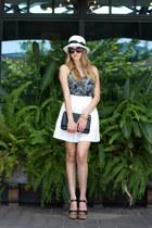 black clutch Joia purse - white Sis Sis skirt