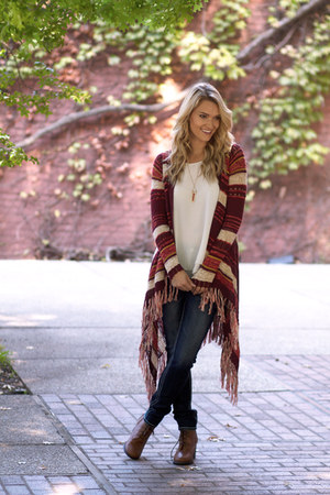 Lucky Brand sweater - Frye boots - dark wash denim Rock Revival jeans