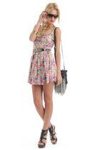 pink Forever 21 dress - black Forever 21 - gold Forever 21 - brown Forever 21 -