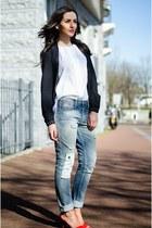 boyfriend 8mm jeans - bomber we jacket