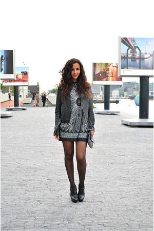 Aldo boots - leather H&M jacket