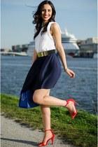Wefashion skirt - Newlook sandals - H&M belt - Zara top