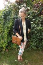 Topshop jeans - Fox Vintage blazer - Fox Vintage bag - Fox Vintage blouse