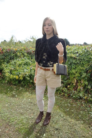 Fox Vintage Russell & Bromley shoes - My Own shorts - Fox Vintage blouse
