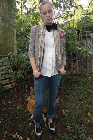 Vintage from Fox VIntage blazer - Vintage from Fox VIntage scarf