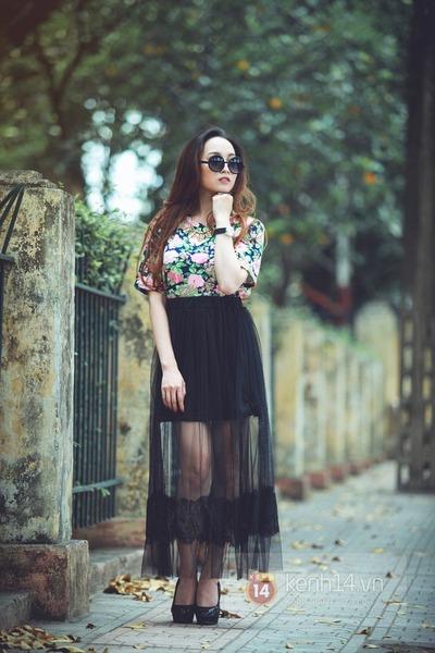 dark gray skirt - turquoise blue shirt - black sunglasses - black heels
