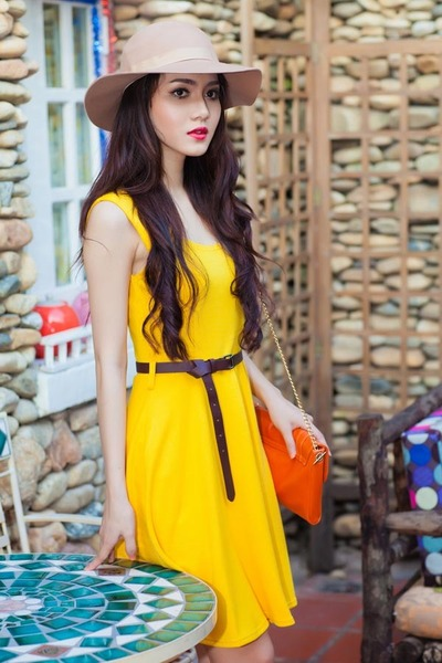 Yellow Dresses- Beige Hats- Carrot Orange Bags- Belts - &quot-Winter of ...