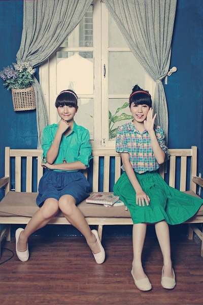 turquoise blue skirt - blue skirt - turquoise blue blouse