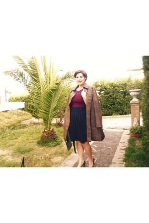 cotone H&M blazer - pelle vintage bag - cotone Mint&Berry vest