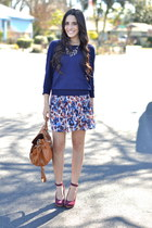 Watercolor Floral Skirt