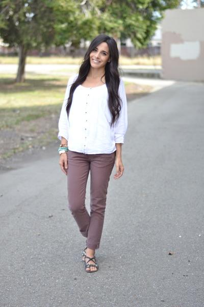 Dark Brown Target Sandals, Brown Ankle Capri Paige Jeans ...