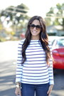 White-navy-striped-h-m-top-navy-snakeprint-j-brand-jeans