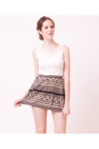 Pattern Printed Very Short Skirt