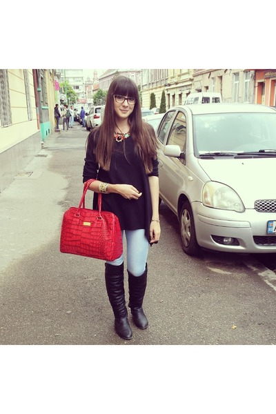 Avon bag - Tally Weijl jeans - H&M blouse