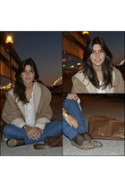 camel large coat Zara coat - navy skinny jeans Primark jeans