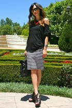 Paul & Joe Sister bag - Ray Ban sunglasses - Forever21 skirt - Final Touch top -