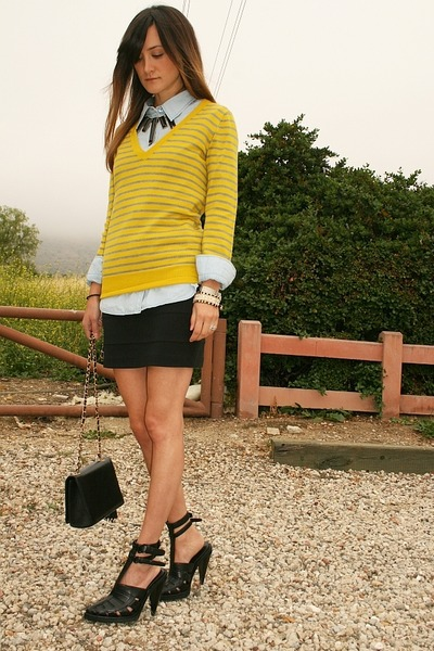 cristi conaway sweater - Equipment shirt - Chanel purse - Urban Outfitters skirt