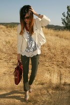 Club Monaco jacket - foley & corinna bag - Urban Outfitters top - Prada pumps -