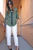 Charles Jourdan heels - Vintage Judith Leiber bag - Bebe pants