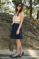Vintage Gucci bag - Pour La Victoire flats - Wyton skirt - bustier Urban Outfitt