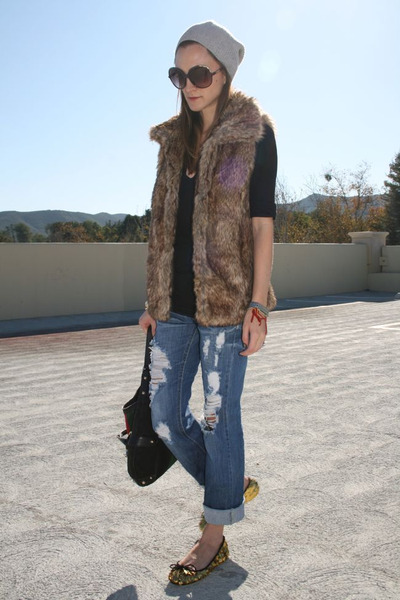 Zara vest - Machine jeans - Marc by Marc Jacobs hat - Hope & Glorie t-shirt