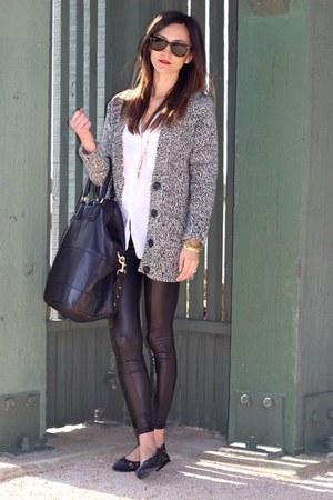 Topshop leggings - Givenchy bag - H&M cardigan - Chanel flats