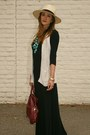 Topshop-dress-h-m-hat-foley-corinna-purse-old-navy-vest-h-m-necklace