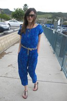 Ray Ban sunglasses - Forever 21 jumper - Old Navy sandals - DIY belt