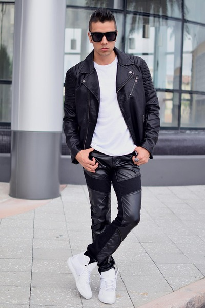 Faux leather jacket h&m canada
