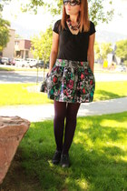 silver Candies skirt - heather gray Mossimo shoes - black elle shirt