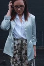Silver-thrifted-blazer-white-button-down-thrifted-shirt-silver-kohls-bag