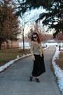 Black-nine-west-boots-black-maxi-walmart-dress-beige-lace-thrifted-shirt