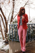 white Charlotte Russe shoes - carrot orange J Crew blazer