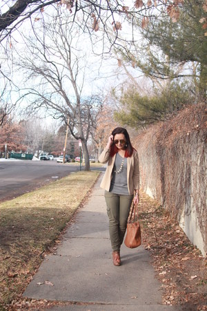 beige thrifted blazer - tawny Charlotte Russe shoes - heather gray Target shirt